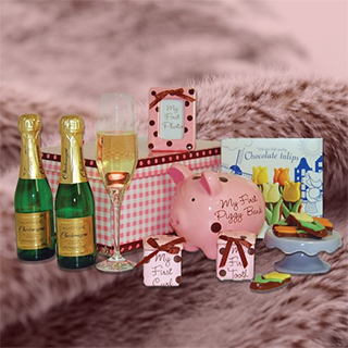 Babys First Hamper (Baby Girl) image